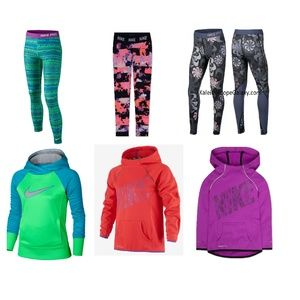 Nike Girls XS 6X Hoodies Leggings Winter NEW